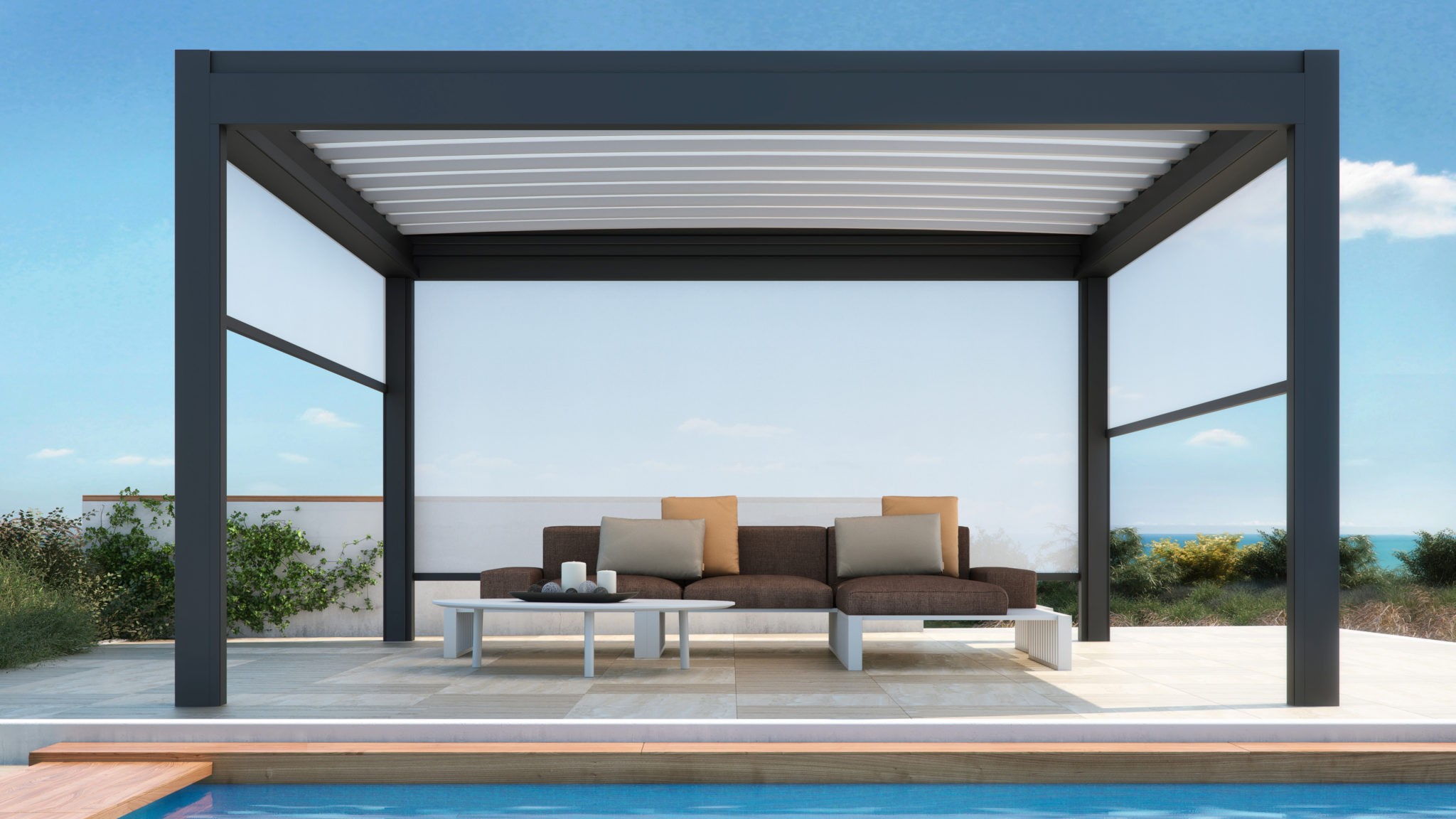 Nomo retractable louvred Roof