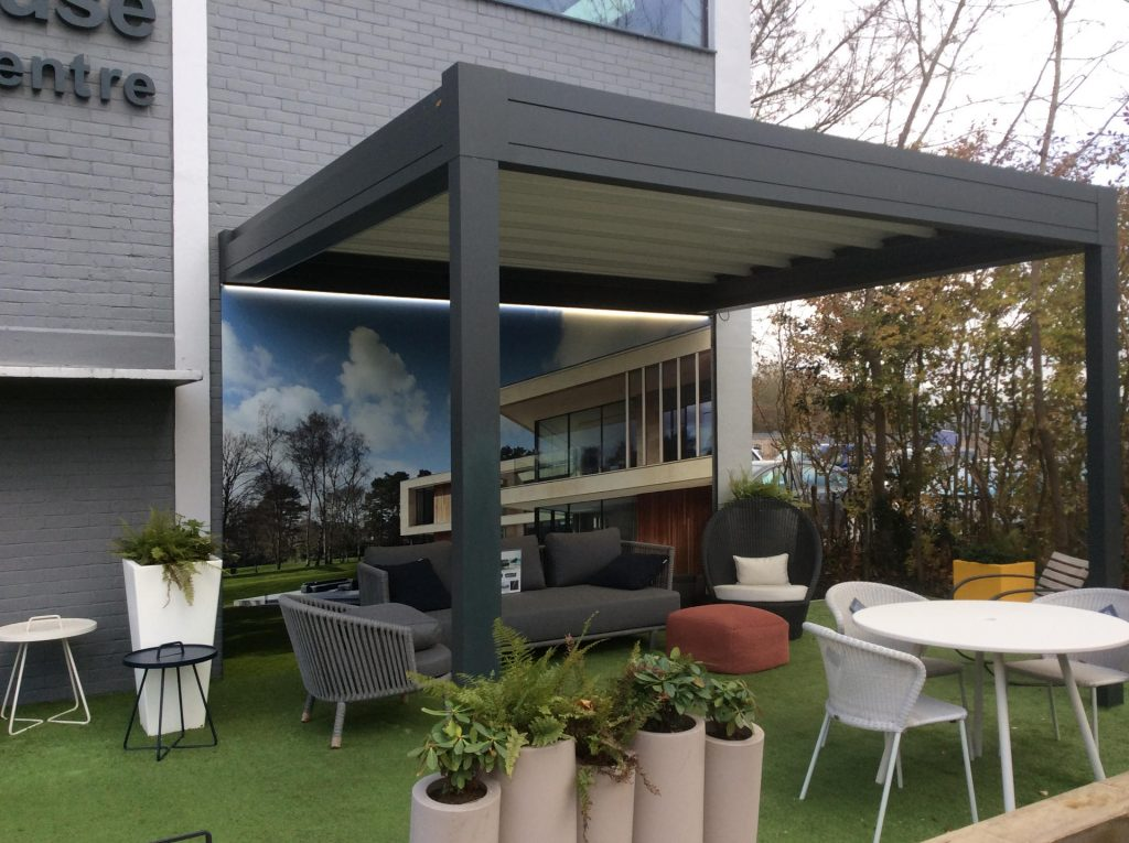 Louvred Roof at Sky House Design Centre
