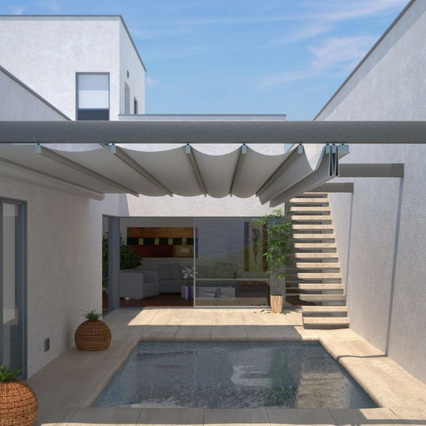 Awning Roof Above Pool Alcove
