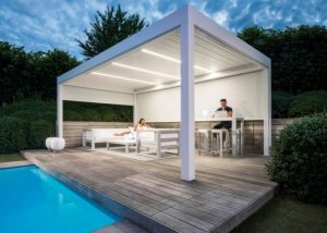Camargue Next to pool with lights installed