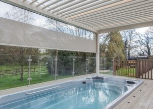 Camargue over a hot tub in the UK